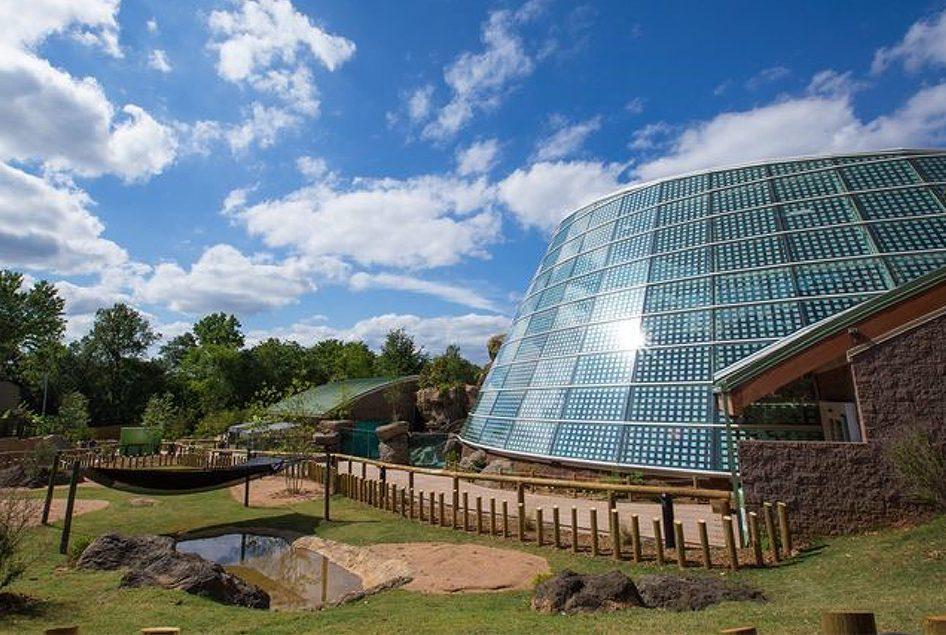Glass facade of Zoo Atlanta building