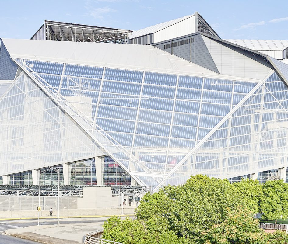 Mercedes Benz Stadium in Atlanta, Georgia (USA)