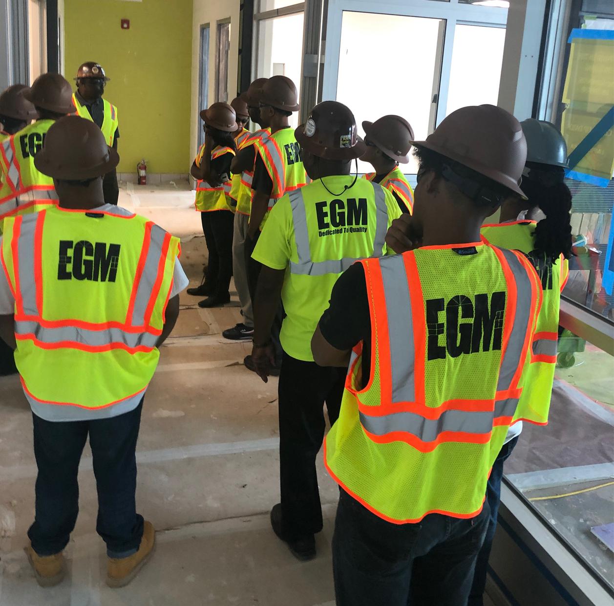 EGM trainees on site